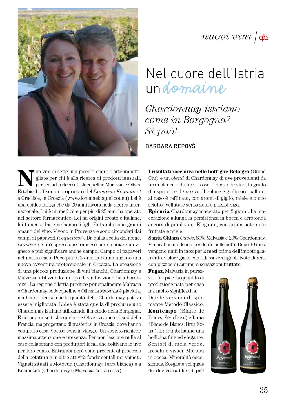 Istrian Chardonnay as in Burgundy? It's possible!