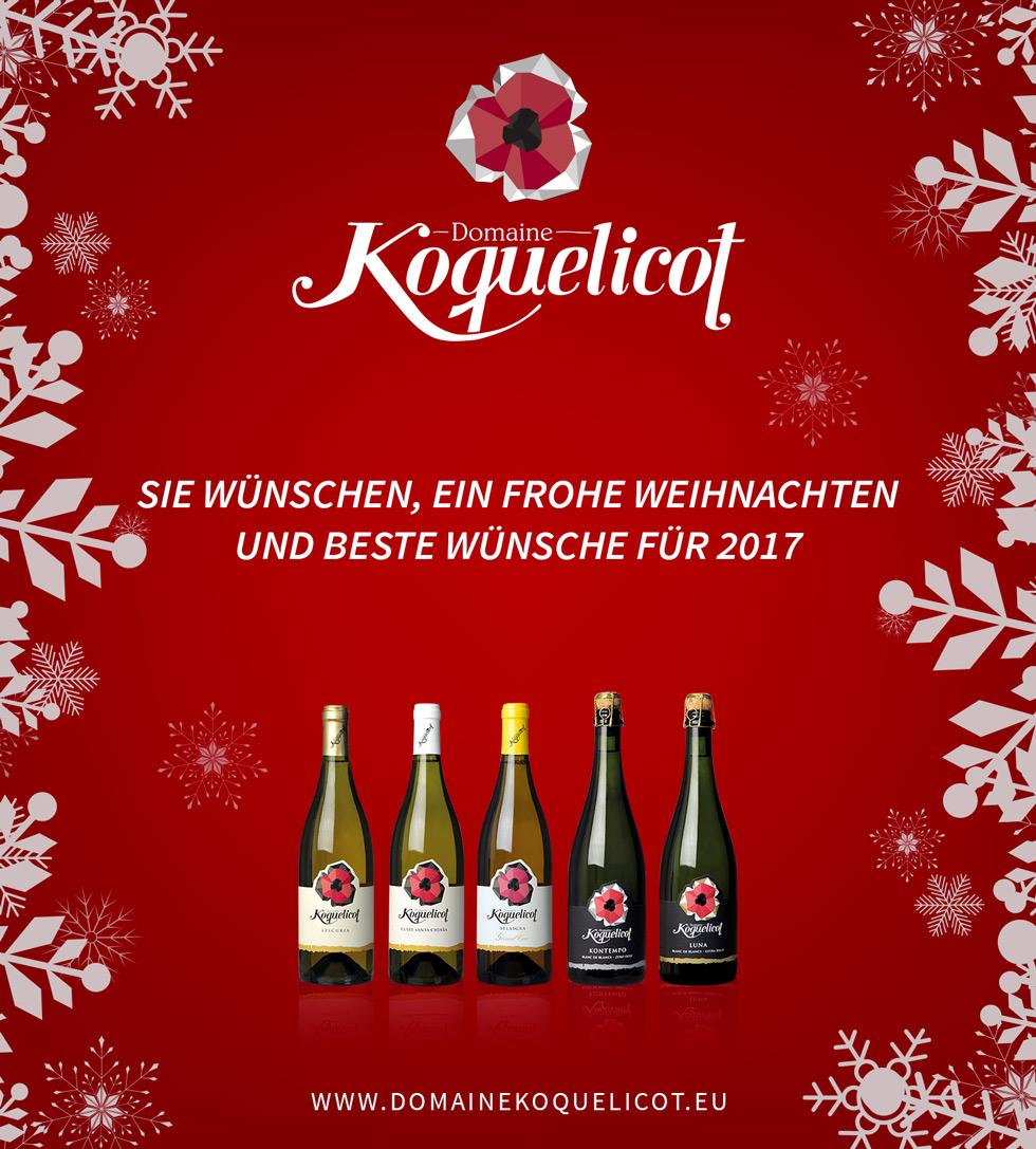 Frohe Weihnachten und alles Gute für 2017
