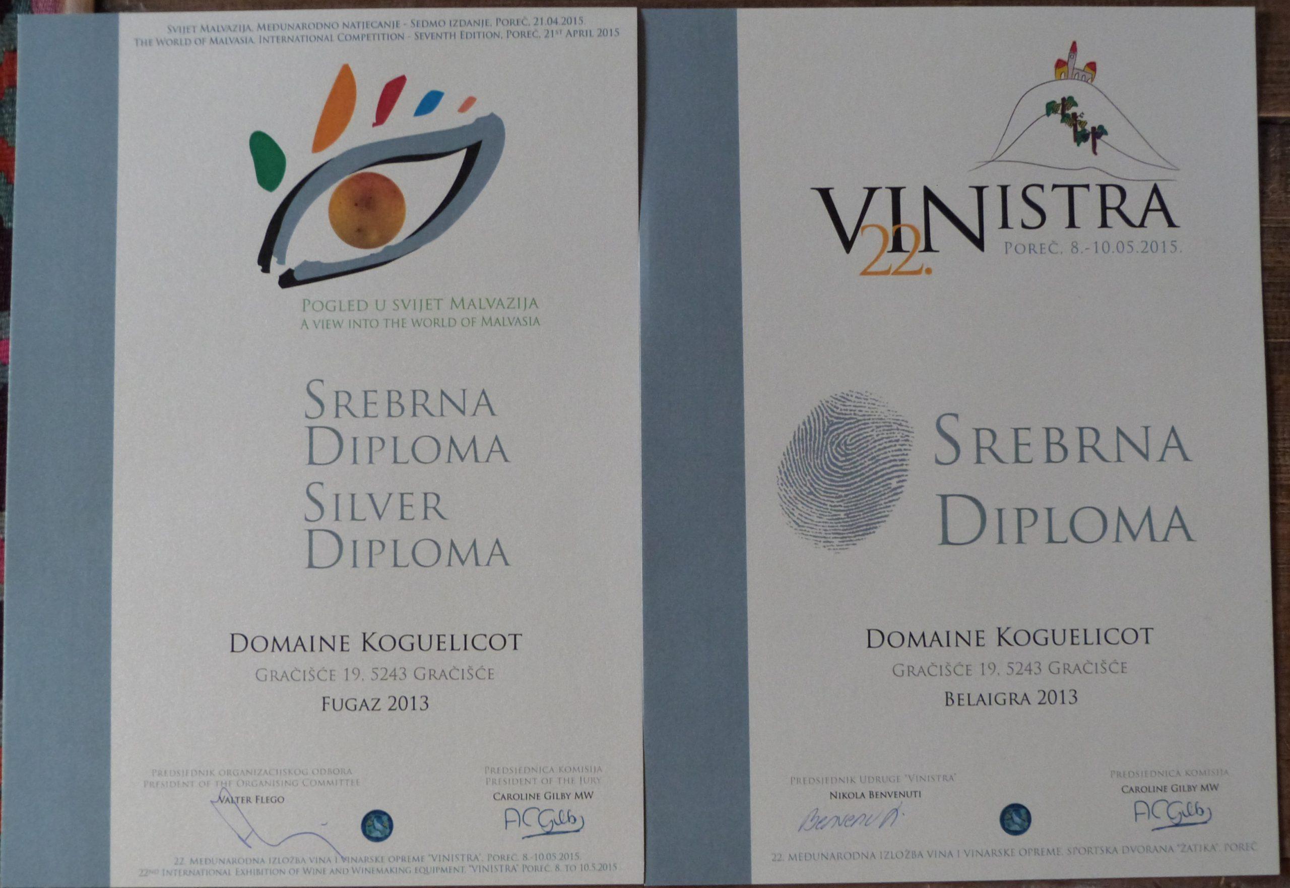 Vinistra 2015 Diplomas